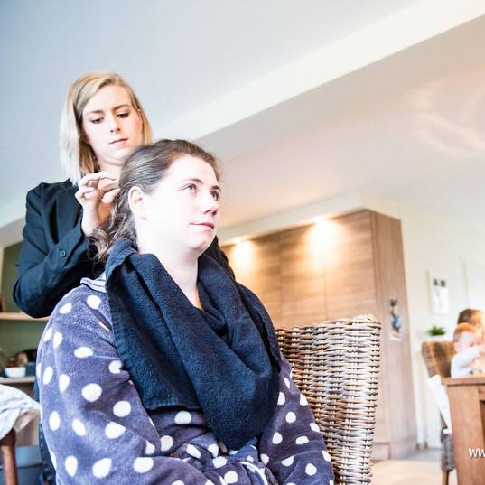 Wedding make-up & hairstyling