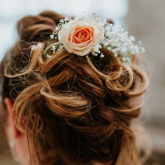 Weddingshoot hairstyling