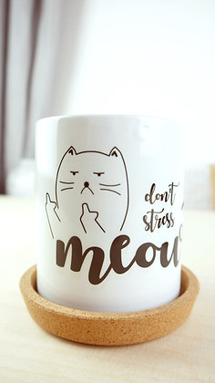 """stressless cat"" Tasse"