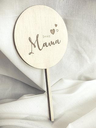DANKE MAMA Mini Lasercut (Flowertopper, Caketopper)