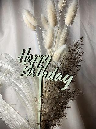 HAPPY BIRTHDAY Mini Lasercut (Flowertopper, Caketopper)
