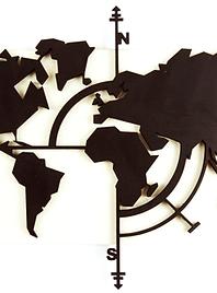 Weltkarte Lasercut