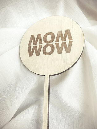 WOW MOM Mini Lasercut (Flowertopper, Caketopper)