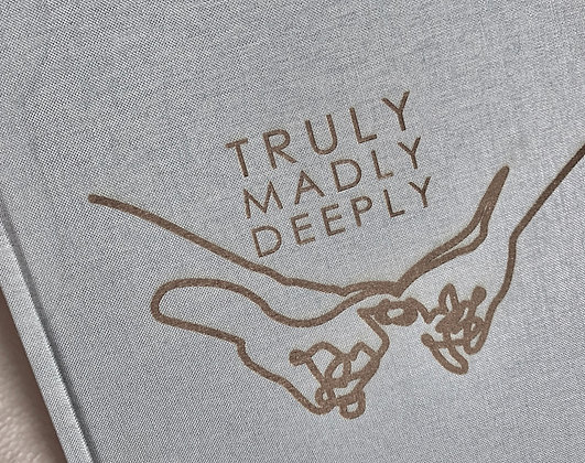 truly madly deeply Leinen-Notizbuch A5