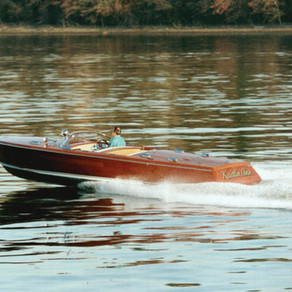 Kaitlin Anne 28' Mahogany/Carbon Runabout Designed by Robert Perry
