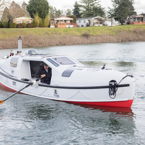 Emerson 28' Ocean Row boat, designed by professional naval architect Eric Sponberg.