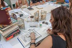 "Book art Workshop during ""Book Art"" exib"