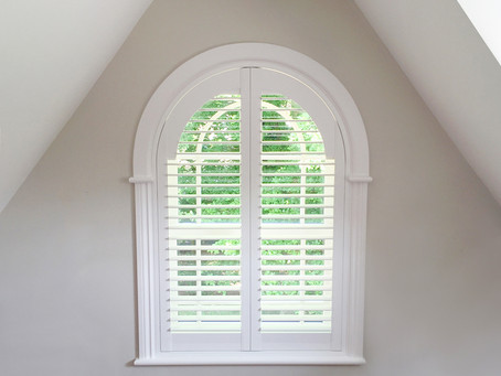Plantation Shutters can be made to accommodate most window styles