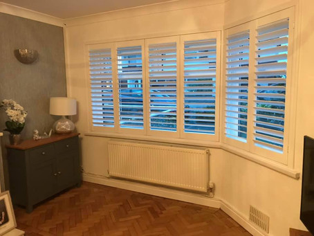 Shutter for window plantation shutters installed in Cardiff
