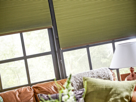 Pleated Blinds Keeping Rooms Cool