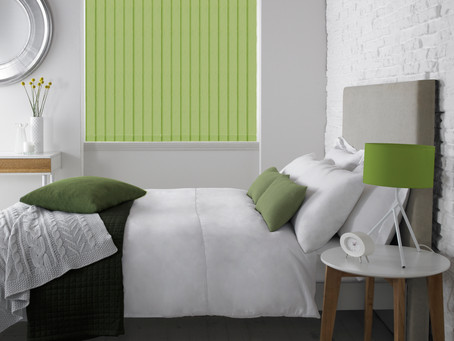 Vertical Blinds in the bedroom