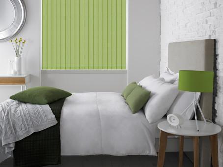 Vertical Blinds in the bedroom