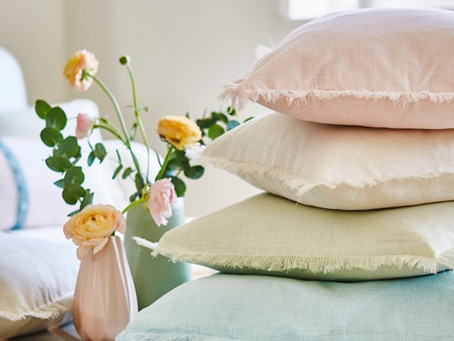A summer collection of pastel colours perfect for curtains and cushions