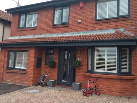 Bay window plantation shutters in Cardiff