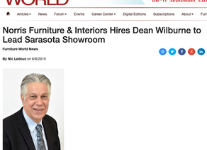 Furniture World - Norris Furniture & Interiors Hires Dean Wilburne to Lead Sarasota Showroom