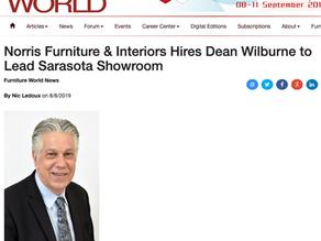 Furniture World - Norris Furniture & Interiors Hires Dean Wilburne to Lead Sarasota Showroom