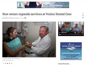 Venice Gondolier Sun - New Owner Expands Services at Venice Dental Care