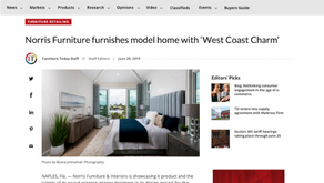 Furniture Today - Norris Furniture furnishes model home with 'West Coast Charm'