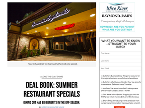 Gulfshore Life - Deal Book: Angelina's Ristorante Offers Wine Special