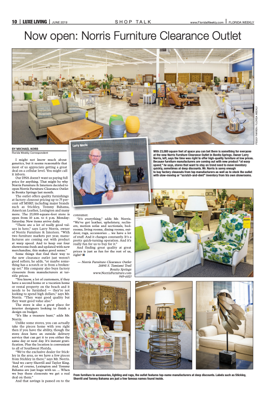 Luxe Living Now Open Norris Furniture Clearance Outlet Fort
