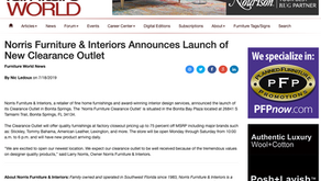 Furniture World - Norris Furniture & Interiors Announces Launch of New Clearance Outlet