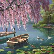 Ruderboot auf dem See