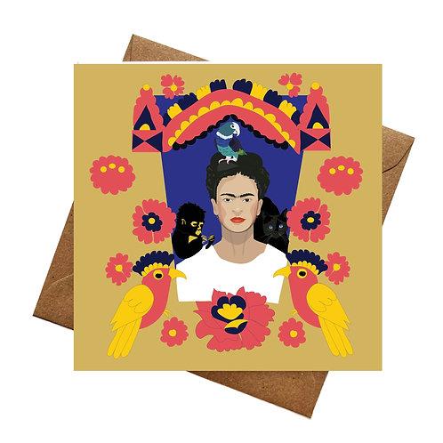 Frida Kahlo Animals Greeting card | Birthday | Blank lank