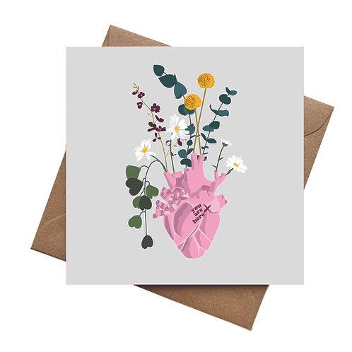 Real Love Grows Valentines   Birthday   Blank Greeting Card