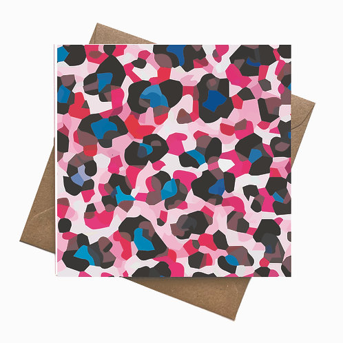 Leopard Customise your own Greeting Card