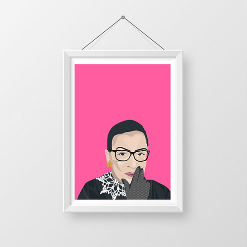 Ruth Bader Ginsberg Digital Wall Art Print