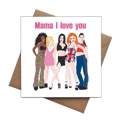 Spice Girls Greeting Card