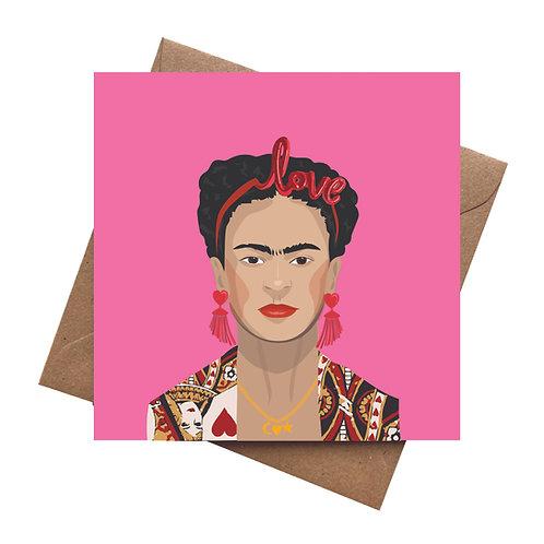 Frida Kahlo Love Greeting card