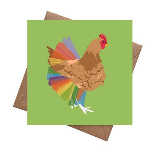 Tutu Rainbow Hen