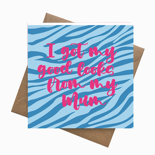 Blue Tiger Customise your own Greeting Card