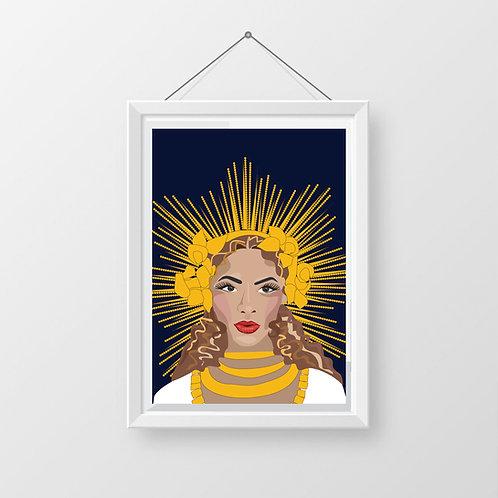 Beyonce Digital Art Print