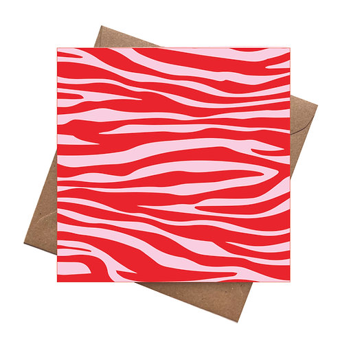 Pink Tiger Customise your own Greeting Card