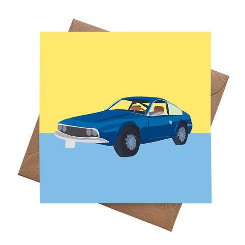 Vintage Alfa Junior Zagato Car | Birthday Greeting Card | Blank Card