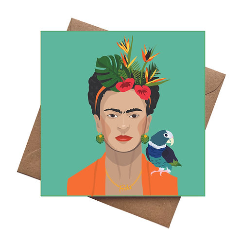Frida Kahlo Tropical Greeting Card