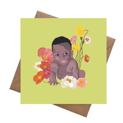 New Baby Crawling Card