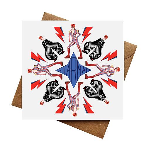 David Bowie   Kaleidoscope   Birthday   Fathers Day   Blank Card