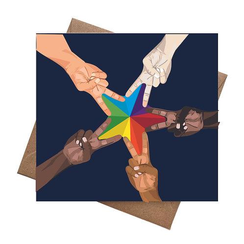 Diverse Pride Star Hands