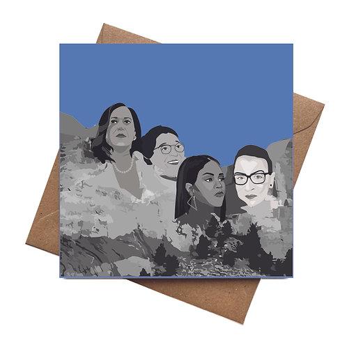 Mount Rushmore Inspiring Women greeting card   wise women   feminist
