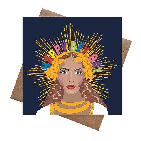 Beyonce Birthday blank Greeting Card