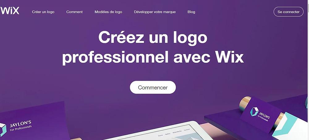 Faire un logo avec Wix