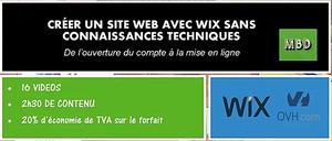 Formation : Créer un site web avec wix
