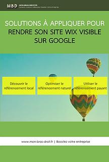 Tutoriel pdf :  Mon site wix n'apparait pas sur Google
