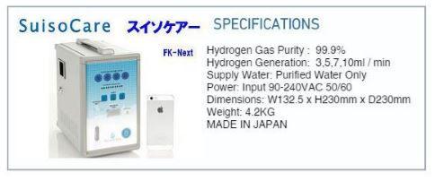 Suisocare hydrogen generator