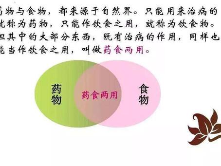 """""""药食同源""""中药功效解读"""