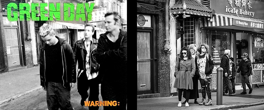 Green Day Warning cover shoot