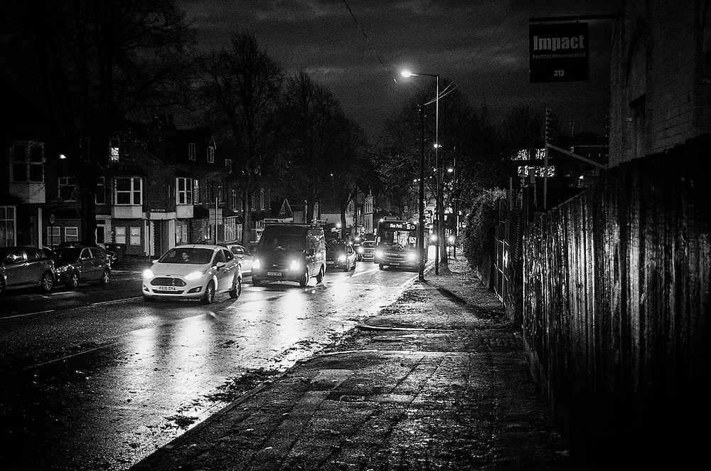 Nottingham streets at night